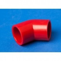 Red ABS 25MM 45 degree Elbow