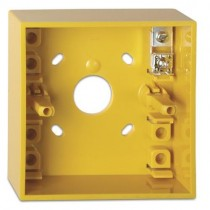 Yellow surface mount Back Box