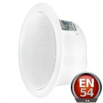 Complete Fire Ceiling Speaker 6W, 100V (20cm)