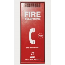 Fire telephone. Red. Surface mount.