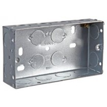 Double Metal Back Box, 35mm For use with Interfaces