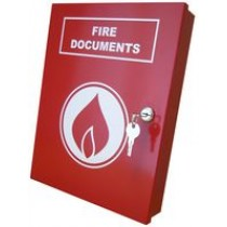 DOCUMENT BOX A4 FIRE RED