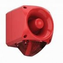 ASW377 High Output Sounder Beacon, IP65 Red Flash