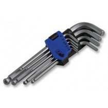 HEX KEY SET, BALL ENDED, 9PC, METRIC
